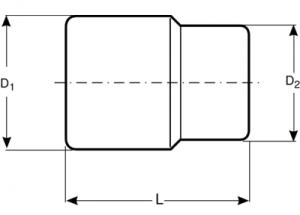 """Головки стандартной длины, привод 1"""" чертеж"""