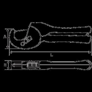 Труборез для пластиковых труб 311-32 чертеж