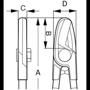 Кусачки для резки кабеля чертеж