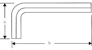 Отверточный ключ под винты с шестигранным гнездом метрических размеров чертеж