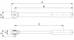 Электpонный динамометрический ключ со сменной реверсивной головкой чертеж