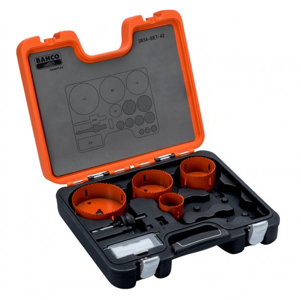 Наборы биметаллических кольцевых пил Sandflex 3834-SET-42