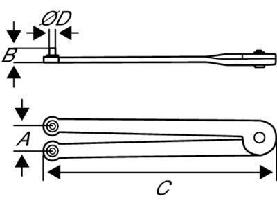 Раздвижной ключ со шпильками чертеж