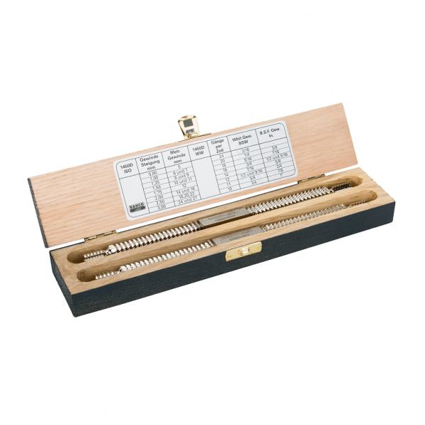Набор восстановителей двухзаходной резьбы, деревянный ящик 1450D/2