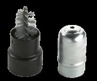 Стальная щетка для удаления коррозии и грязи с клемм аккумулятора и кабельных зажимов Металический корпус и стальная щетина с наружной стороны для кабельных зажимов и с внутренней стороны для клемм В металлическом футляре