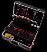 Специальный набор инструмента для работы с электроникой, пластиковый кейс 2010