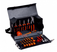 Набор инструмента для электрика в кожаной сумке,16 шт