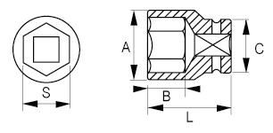 Ударные головки 1/2 IRIMO 167-08-1/167-36-1