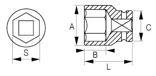 Торцевые головки 1/4 IRIMO 101-04-1/101-14-1