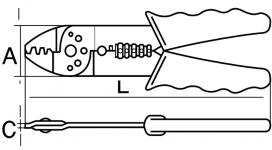 Щипцы для зачистки и обжима клемм Basic, артикул CR B 01