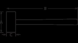 Кувалда со стальным молотом 3625PU-105