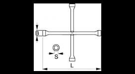 Крестообразный гаечный ключ 29-B/BWXW1/BWXW2
